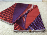 Fabric by the yard, African Fabric, Ankara, Designer Fabric, Purple and Pink Cotton Fabric - KaraOShop