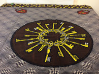 Fabric by the yard, Africa Fabric, Ankara, Designer Fabric, Black, Yellow, and traces of White Cotton Fabric