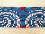 Fabric by the yard, African Fabric, Ankara, Designer Fabric, Brocade, Blue and Red Circular Cotton Fabric