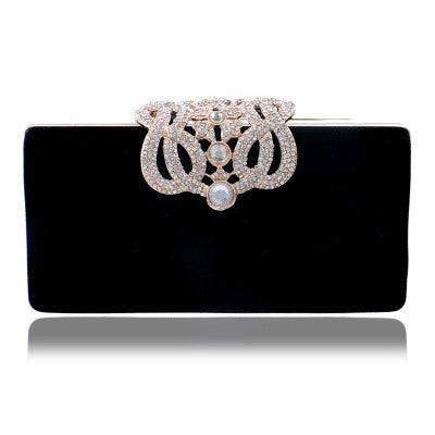 Black and Rhinestone Evening Bags Clutch (Other Colors Available)