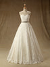Pleated Lace A-Line Sweetheart Wedding Dress
