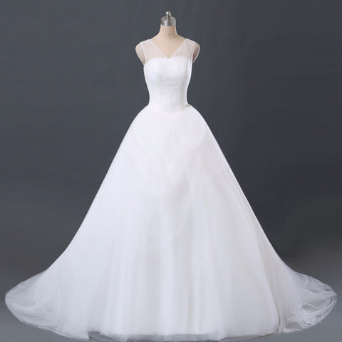 Tulle Layered Wedding Dress