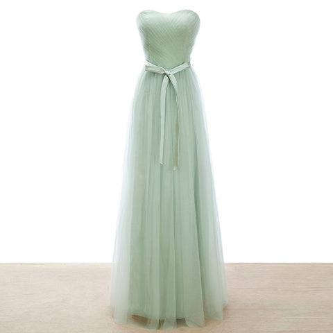 Soft Tulle Mint Green/lilac/Pearl/Pink Bridesmaid Dress