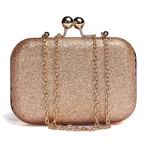Glitter Chain Clutch Evening Bag
