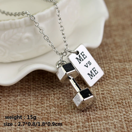 Inspirational Fitness Pendant w/Chain