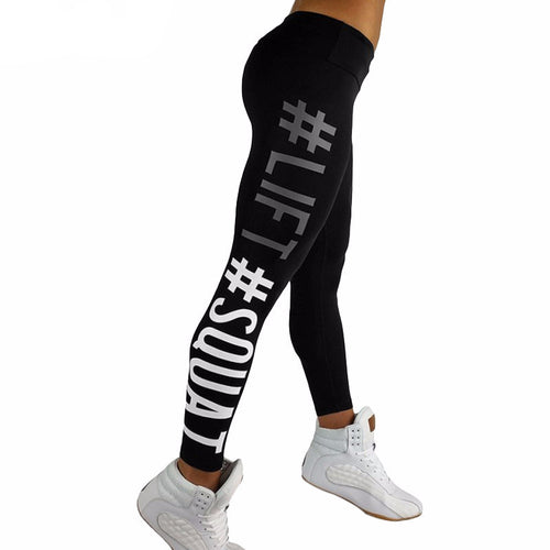 Lifting and squatting leggings hashtag #