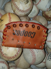 Cooper Tim Raines Autograph Model Leather Baseball Glove Business Card Holder  handcrafted from an old baseball glove