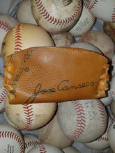 "Rawlings ""Jose Canseco"" Leather Baseball Glove Business Card Holder  handcrafted from an old baseball glove"