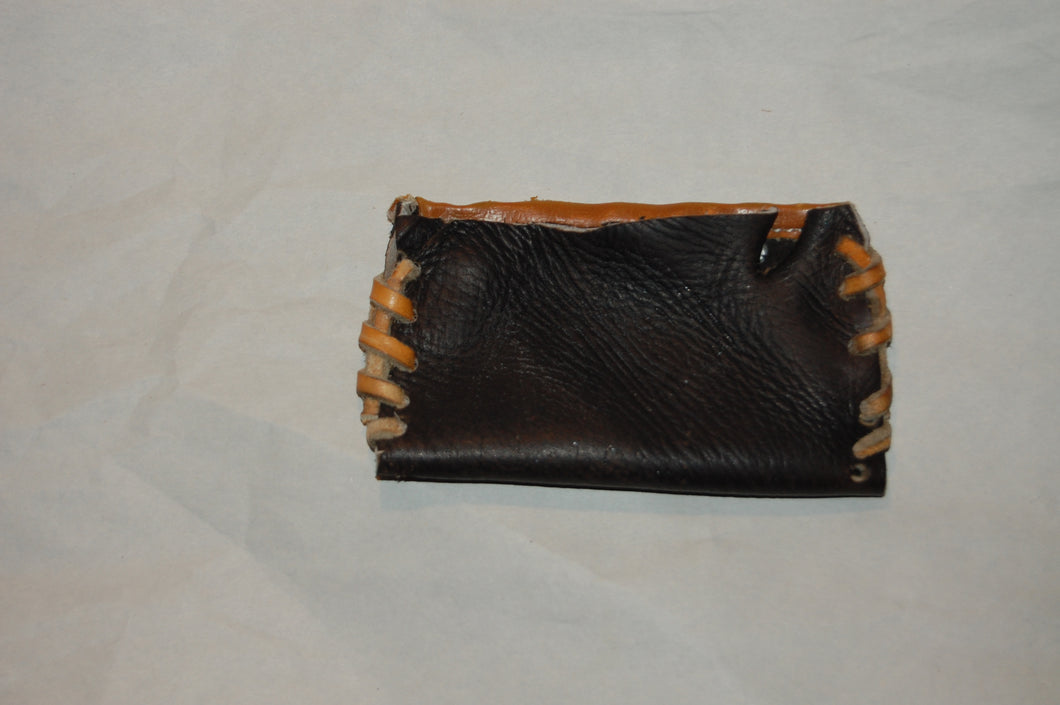 Cooper Leather Baseball Glove Business Card Holder  handcrafted from an old baseball glove