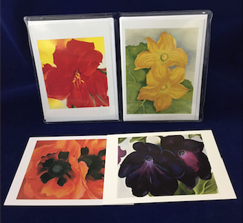 "O'Keeffe ""Flowers 1"" notecard set"