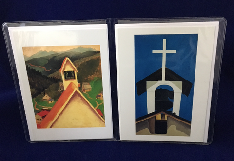 "O'Keeffe ""Church Steeple"" notecard set"