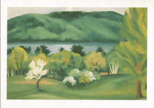 Lake George, Early Moonrise Spring, 1930 - Notecard