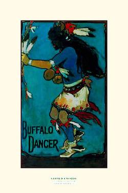 Buffalo Dancer - Notecard