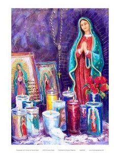 Guadalupe with Votives