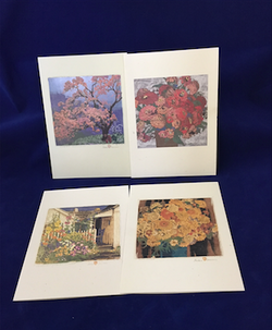 "Baumann ""Flowers"" notecard set"