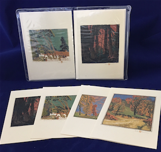 "Baumann ""Trees"" notecard set"