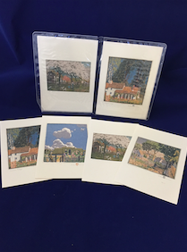 "Baumann ""Homes from the Past"" notecard set"