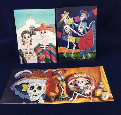 "Candy Mayer ""Day of Dead"" notecard set"