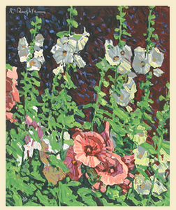 Hollyhocks - Original Serigraph