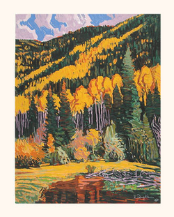 Fall Mountains - Original Serigraph