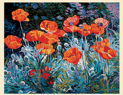 Poppies - Original Serigraph