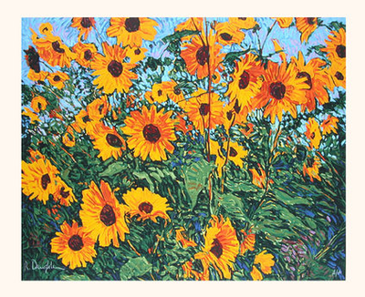 Wild Sunflowers - Original Serigraph