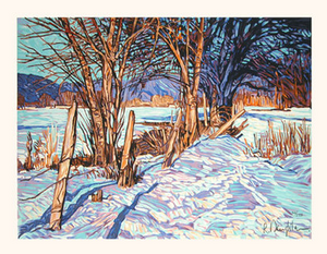 Winter Scene - Original Serigraph