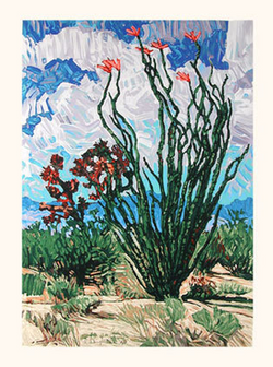 Desert Bloom - Original Serigraph