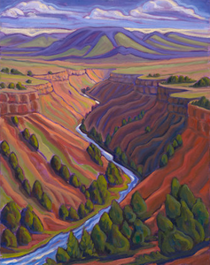 Taos Gorge - canvas