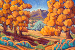 La Cienega Cottonwoods - canvas