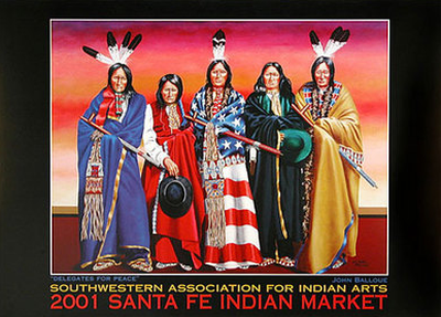 Delegates for Peace, Santa Fe Indian Market poster, 2001