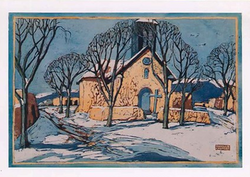 Church in Northern New Mexico- boxed notecard set
