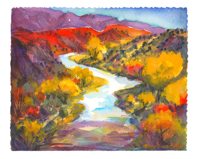 Abiquiu River in Autumn