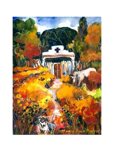 Vineyard with Dog and Horse