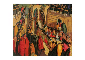 Dance at Taos - Notecard