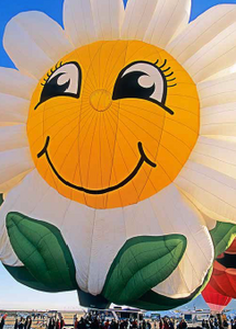 Sunflower Balloon- notecard