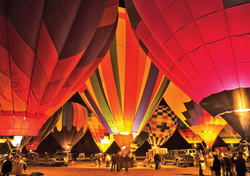 Red Rock Balloon Glow- notecard
