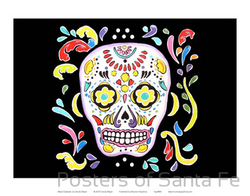 Black Calavera - Notecard