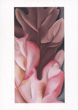 Oak Leaves, Pink and Grey, 1929 - Notecard