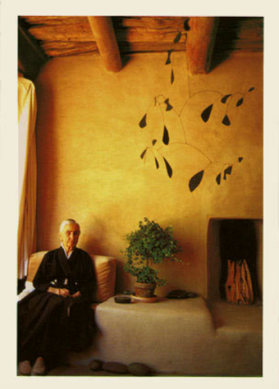 O'Keeffe with Fireplace - Notecard