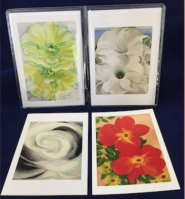 "O'Keeffe ""Flower 2"" notecard set"
