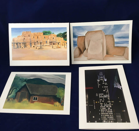 "O'Keeffe ""Buildings"" notecard set"