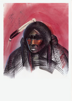 Apache Brave/SF Indian Market '98 - Notecard
