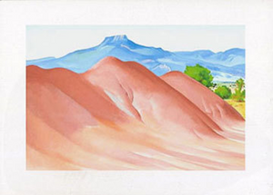 Red Hills and Pedernal - Notecard
