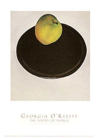 Green Apple on Black Plate