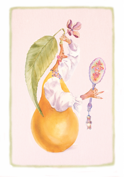 Whimsical Pear Fixing Hair