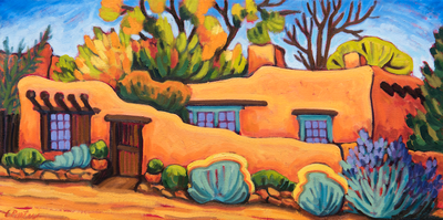 Autumn Adobe - notecard