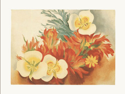 Mariposa Lilies and Indian Paintbrush - Notecard