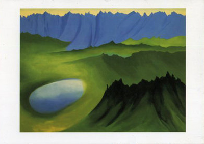 Mountains and Lake - Notecard