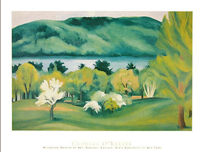 Lake George, Early Moonrise Spring, 1930